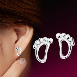 2 Pair Women Silver Plated Jewelry Hypoallergenic Simple Lit